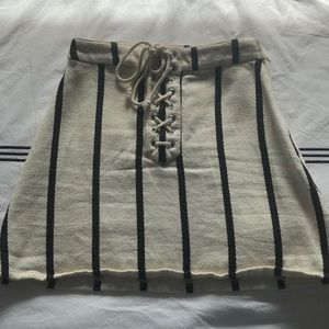 H&M striped skirt size small